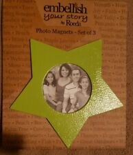 Star Photo Magnets Set Of 3 - Embellish Your Story By Roeda