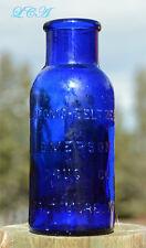 LARGE early COBALT BLUE colored BROMO SELTZER antique HEAD ACHE CURE bottle