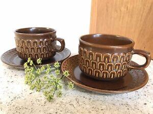 Vintage Wedgwood: Pair of Pennine Tea Cups and Saucers