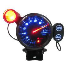 """3.5"""" 12V TACHOMETER GAUGE KIT BLUE LED CAR METER WITH SHIFT LIGHT 11000 RPM"""