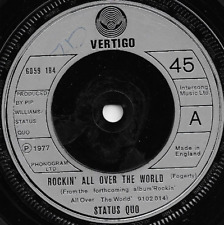 STATUS QUO - ROCKIN' ALL OVER THE WORLD / RING OF A CHANGE - 70s CLASSIC ROCK
