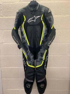 Alpinestars Motegi V2 Camo Grey One Piece Leather Motorcycle Suit EU 56 UK 46