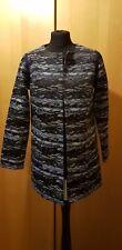Designer Coat ICHI size 10 Cotton Lined Smart Grey And Black Textured