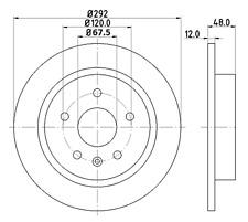 Discos De Freno Trasero (par) apto para TOYOTA COROLLA E18 ZRE17 1.6 1.8 VVTi 2013-17