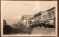 1940s Street Scene in Yakima Washington RPPC Photo Postcard Ellis