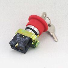 Xb2bs142c clave Liberado 1nc Rojo De Parada De Emergencia Hongo Tecla De 22mm