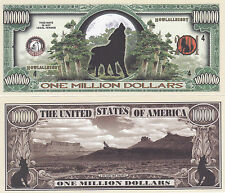 10 Wolf - Howling Wolf Collectible Novelty Money Bills