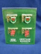 Dept 56 Heritage Village Banners Set of 4 #55263 NEW (a2103)