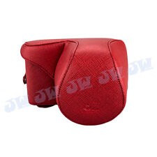 O.N.E PRO PU LEATHER CASE BAG FOR ILDC SONY NEX-3 WITH 16MM 18-55MM LENS RED