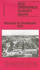 OLD ORDNANCE SURVEY MAP WATERLOO & SOUTHWARK 1872