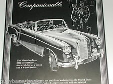 1958 Mercedes-Benz 220s advertisement, Mercedes 220S Convertible