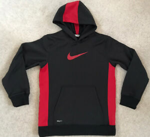 Black And Red Nike Hoodie - Size L - Age - 14-16