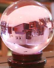 60MM Huge Asian Rare Natural Quartz Pink Magic Crystal Healing Ball + Stand A++
