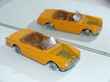 Vintage Diecast toys 1/43 Fiat 124 sport cabriolet spider Politoys 555 1600 1400