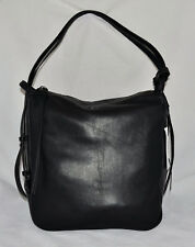 $398 DKNY Item Soft Leather Hobo Convertible Slouch Hybrid Bag Purse New Black