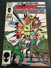 Gi-joe And The Transformers#1 Incredible Condition 8.5(1987) Trimpe Art!!