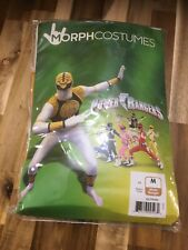 WHITE ADULT POWER RANGER  Morph Original Morphsuits party costume MD size