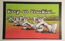 Blacklight Poster Pin-up Print Keep On Truckin' Give Earth A Chance Double Sided