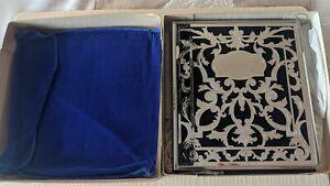 Vintage NIB MELANNCO Silver PICTURE PHOTO ALBUM NIB