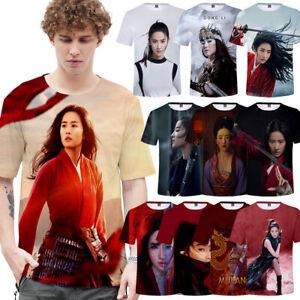 2020 Movie Mulan Men's T shirts Hua Mulan Women's Top Basic Tee 3D Printing Hot