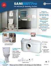 SANIFLO SANIBEST ROUND TOILET W/GRINDER PUMP, 013-083-005, *MAKE OFFER* WHITE