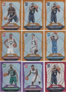 2015-16 Prizm basketball MULTI PRIZM 38 ROOKIE CARD lot RED, BLUE FLASH!