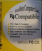 Powermax Computer Case P4 Compatible 0215-4HL With Power Supply - New