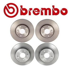 Brembo Front and Rear Brake Disc Rotors Coated Kit For Honda Accord LX 2008-2017