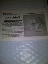 O.S. Engine MAX-46AX Owner's Instruction Manual Only