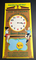 Buster Brown Shoes Clock Sign Kids Tell Time Toy  Giveaway Clothing Fashion
