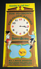 Buster Brown Clock Sign Kids Tell Time Giveaway Clothing Fashion