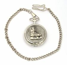 Ice Skater Boot Pocket Watch Gift Boxed With FREE ENGRAVING Ice Skating Gift