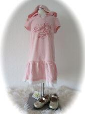 °H&M° Kleid Sweatkleid Strandkleid Hoodie mit Spitze rosa 110 116 NEU