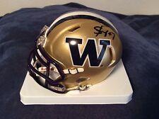 Shaq Thompson, Signed, Auto, Mini Helmet, NFL, UW, Panthers, PROOF, RARE