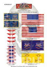 10MM FLATS SET 1 - GENERIC UNION COLOURS AMERICAN CIVIL WAR COLOURS