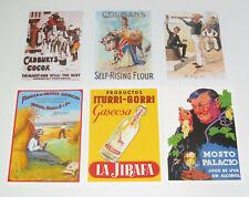 Lot de 6 Carte Postale Reproduction Affiche Publicitaire Ancienne Pub i