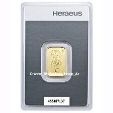 Goldbarren 5g 5 Gramm Feingold Heraeus Blister Gold 99,99 gold bar lingotti