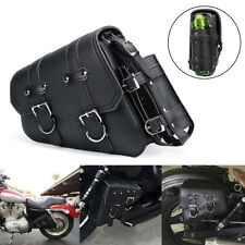 Left Motorcycle Side Saddle Bag Tool Bag For Harley Davidson Sportster 04-UP AU