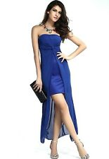 Women Sexy Strapless bodycon Bandeau Dress Cocktail Sheer Back Prom,Party! M 8