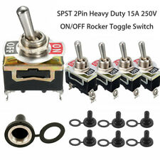 5X Waterproof Toggle Flick Switch 12V ON/OFF Car Dash Light Metal 12 Volt Boot