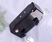 Oil catch can 15mm raccords universel alliage reniflard réservoir catcher noir carré