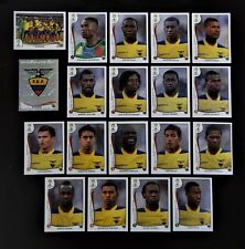 Panini FIFA World Cup Brazil 2014 Complete Team Ecuador + Foil Badge