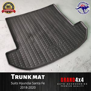 Heavy Duty Rubber Trunk Mat Boot Liner for Hyundai Santa Fe 2018 - 2020