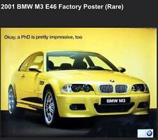 BMW M3-E46 PHD-Factory 2001 Car Poster Very Rare! Own It!!