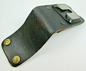 "Leather 3"" Loop Pin Drop Belt Holster for Swivel Mounting Stud Pull the Dot Snap"