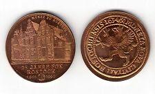 AV-VD Medaille Rostock Taler 1634 25 Jahre Fachgruppe Numismatik 1965-1990 (KT16