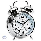 Atlanta 1646/19 Despertador Cuarzo Análogo Reloj DE Campana Doble Plateado