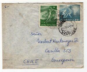 CHILE 1962 June 13, 5+2c Futbol Futball football soccer World cup championship I