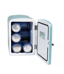 Frigidaire Portable 9 Can Retro Mini Fridge Teal EFMIS175 Skincare College Gift