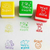 6PCS/SET Teacher Rubber Stamp Self Pre inking School Student Homework Comment